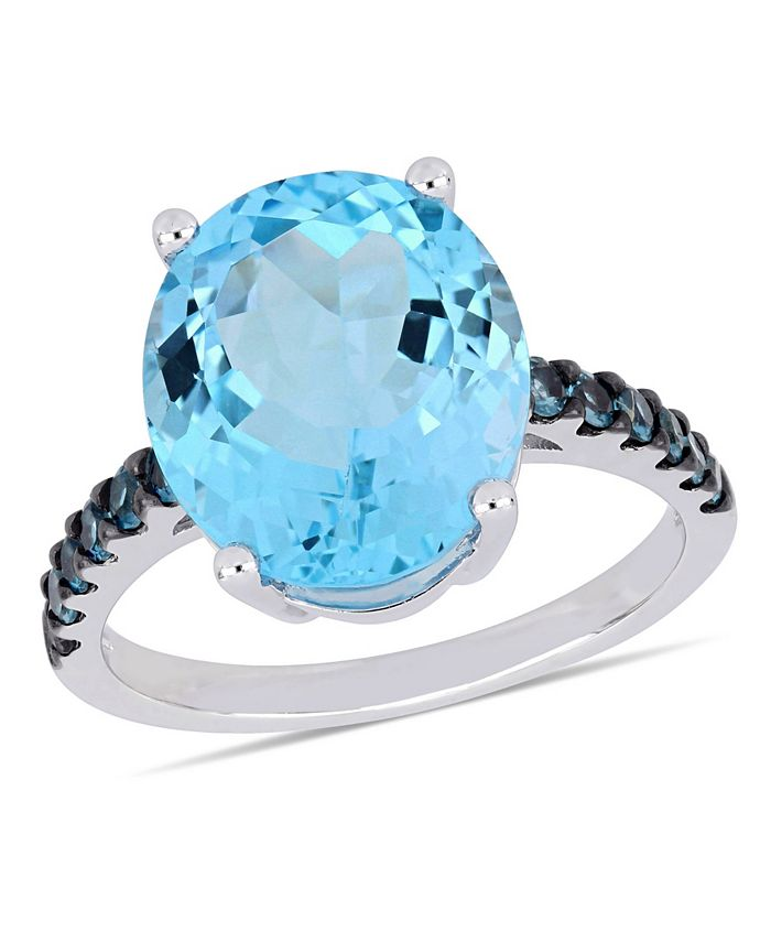 Macy's - Blue Topaz (10-1/2 ct.t.w.) Ring in Sterling Silver
