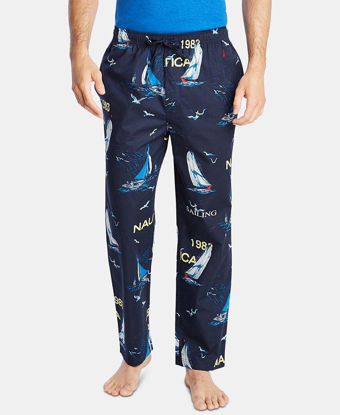 Nautica - Men's Cotton Sailboat-Print Pajama Pants