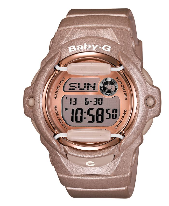 G-Shock - Women's Digital Beige Resin Strap Watch 43x46mm BG169G-4