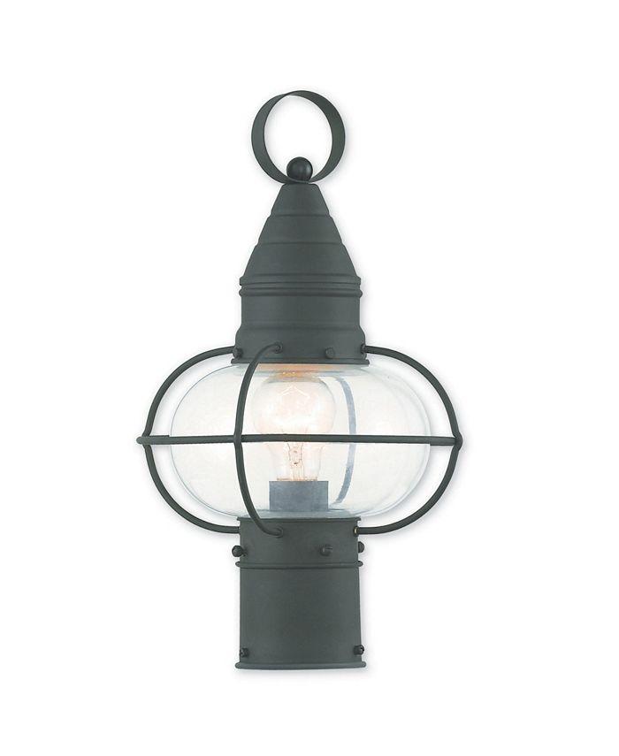 "Livex - Newburyport 1-Light 15"" Post Lantern"