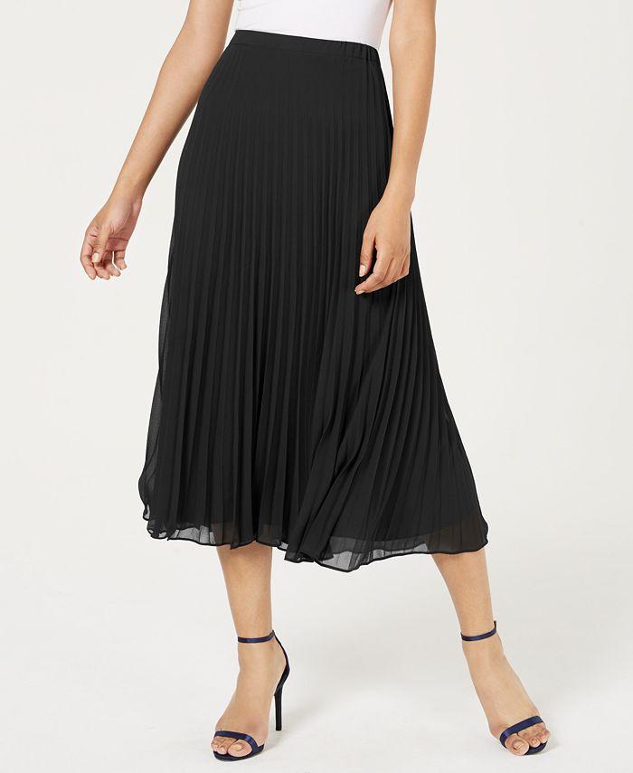 Anne Klein - Pleated Maxi Skirt