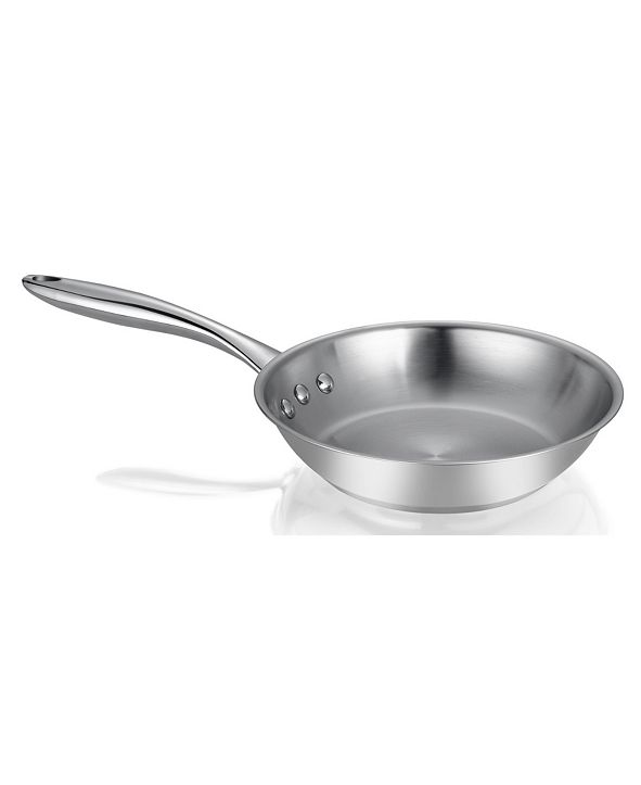 """Ozeri 8"""" Stainless Steel Earth Pan PTFE-Free Restaurant Edition"""