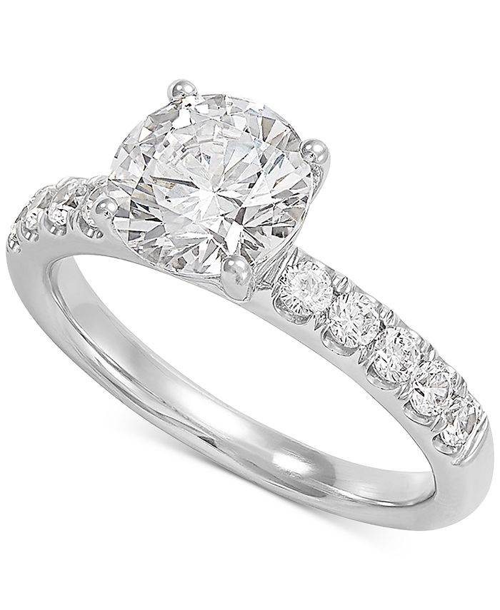 Grown With Love - Lab Grown Diamond Engagement Ring (2-1/2 ct. t.w.) in 14k White Gold