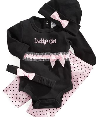 Baby Essentials Baby Set, Baby Girls Bodysuit, Pants, and ...