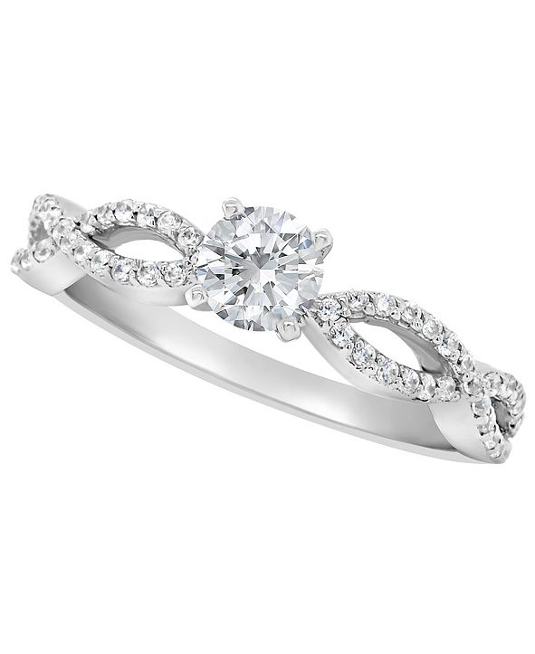 Macy's Certified Round Diamond Engagement Ring (3/4 ct. t.w.) in Platinum