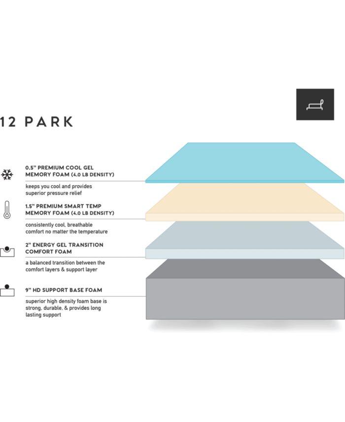 """12Park Smart Temp 13"""" Plush Mattress- Queen & Reviews - Mattresses - Macy's"""