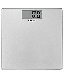 Escali Corp Glass Platform Bathroom Scale, 440lb