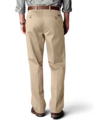 Dockers Signature Khaki Straight Fit Flat Front Pants - Pants ...
