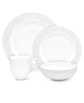 Monsoon Dinnerware Collection by Denby, Lucille Silver 4 Piece Place ...
