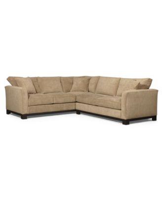 Kenton Fabric 2Piece Sectional Sofa Furniture Macys