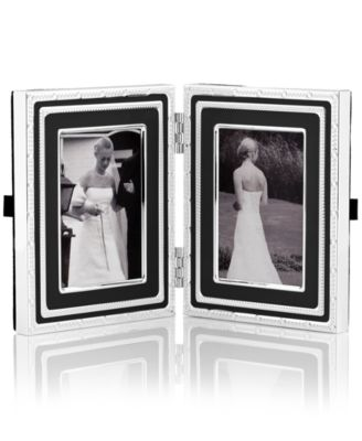 "Vera Wang Wedgwood With Love Folding 2"" x 3"" Picture Frame"