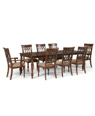 Crestwood Dining Room Furniture, 9 Piece Set (Dining Table, 6 Side Chairs  And
