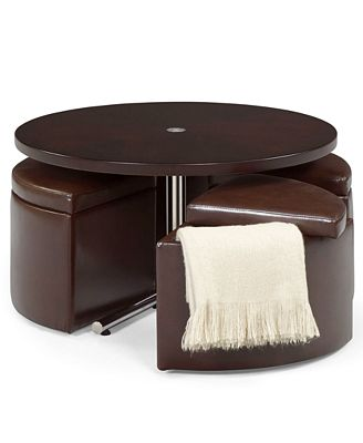 neptune coffee table with storage ottomans - coffee addicts