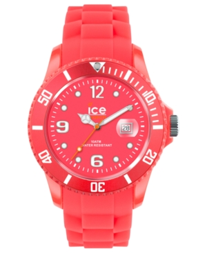 Ice-Watch Watch, Women's Ice-Flashy Neon Red Silicone Strap 43mm 102005