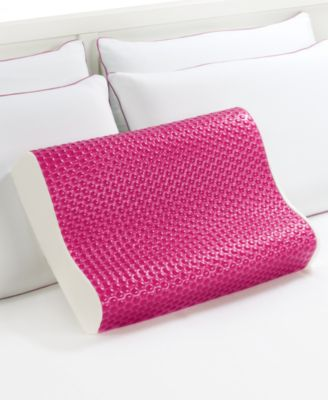 Comfort Revolution Breast Cancer Research Foundation Hydraluxe Cooling Gel  & Memory Foam Contour Pillow