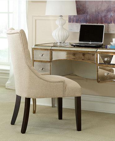 Monique Home Office Desk Cabriole Mirrored Writing Desk