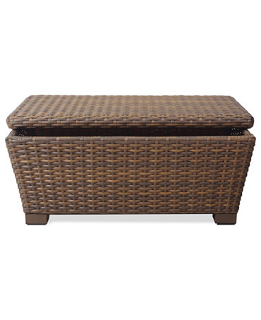 Peconic Wicker Outdoor Storage Coffee Table - Furniture
