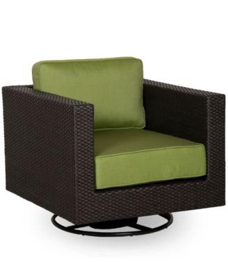 Belize Wicker Outdoor Swivel Chair