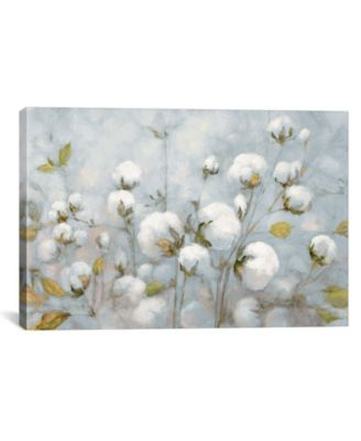 Cotton Field in Blue Gray by Julia Purinton Gallery-Wrapped Canvas Print - 26