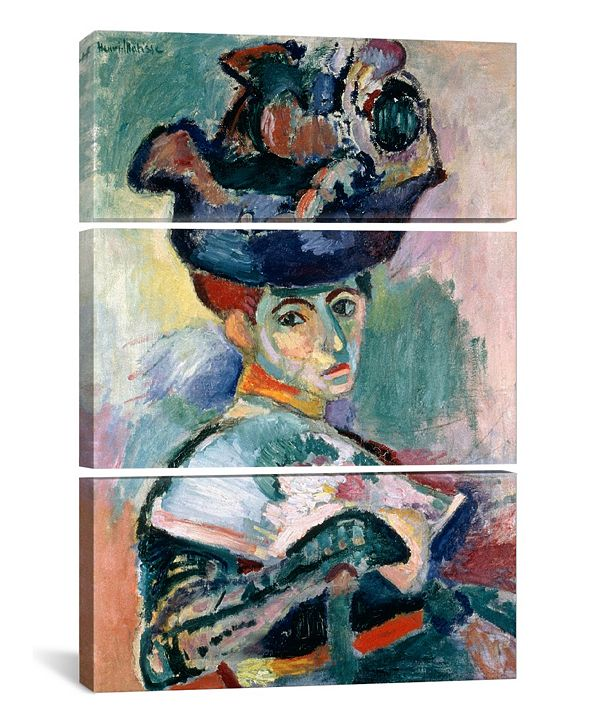 """iCanvas Woman in a Hat - 60"""" x 40"""" x 1.5"""""""