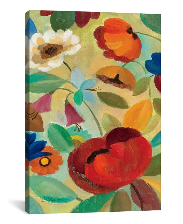 """iCanvas Summer Floral Panel Ii by Silvia Vassileva Gallery-Wrapped Canvas Print - 40"""" x 26"""" x 0.75"""""""
