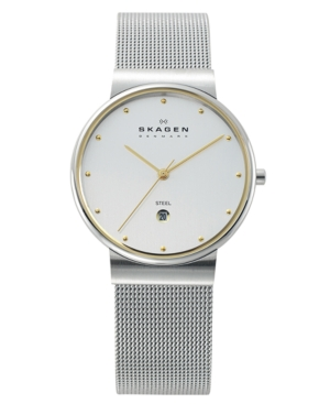 Skagen Watch, Men's Stainless Steel Mesh Bracelet 355LGSC