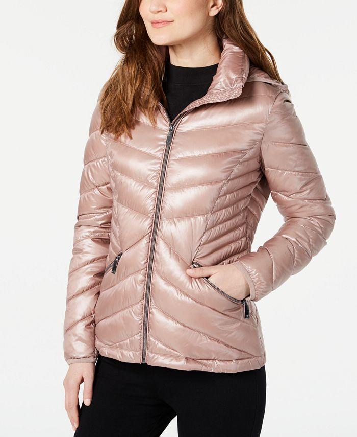 Calvin Klein - Chevron Packable Down Puffer Coat
