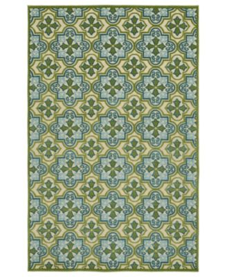 "A Breath of Fresh Air FSR104-50 Green 2'1"" x 4' Area Rug"