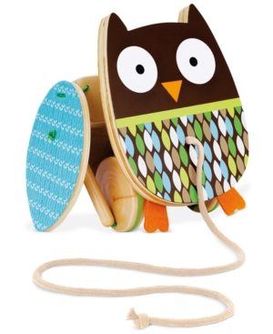 Skip Hop Baby Toy, Babys Treetop Friends Flapping Owl Pull Toy
