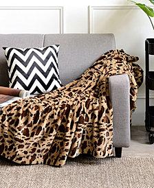 "Cheer Collection Animal Print 50"" x 60"" Reversible Throw Blanket"
