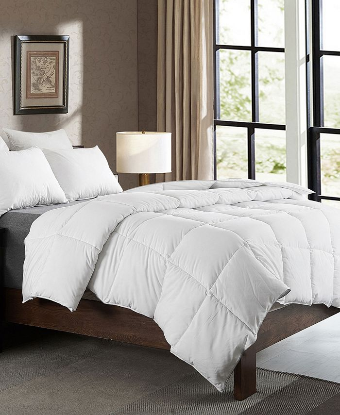 Cheer Collection - Luxury All Season White Goose Down Alternative Comforter - Full/Queen