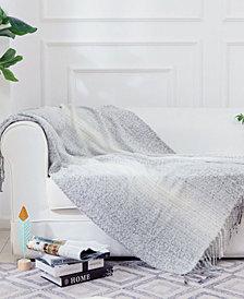 Gray Ombre Throw Blanket