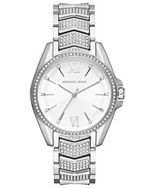 Michael Kors Women's Whitney Stainless Steel Pave Bracelet Watch 38mm
