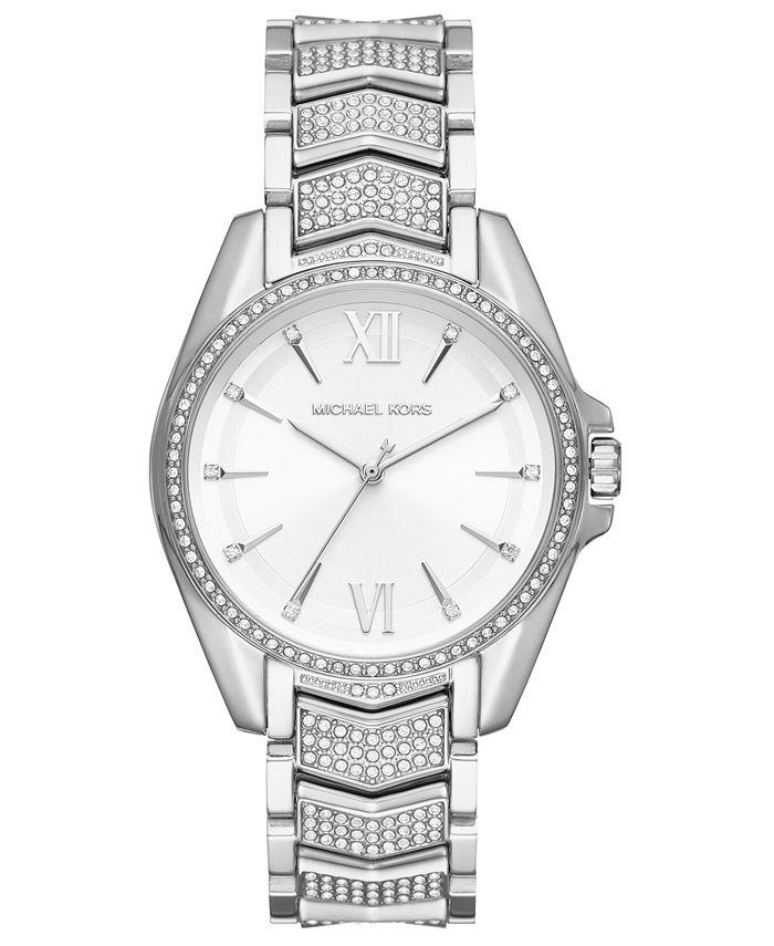 Michael Kors - Women's Whitney Stainless Steel Pave Bracelet Watch 38mm