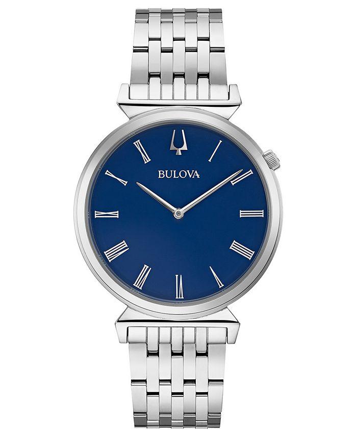 Bulova - Men's Regatta Stainless Steel Bracelet Watch 38mm