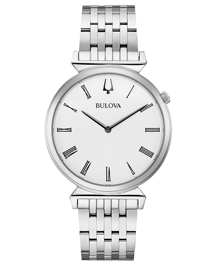 Bulova - Men's Regatta Stainless Steel Bracelet Watch 38mm