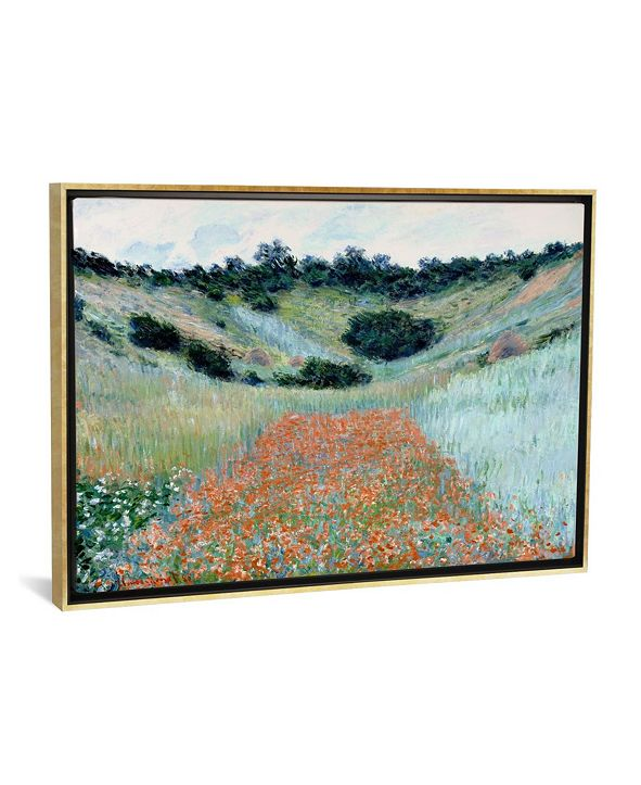 """iCanvas Poppy Field in a Hollow Near Giverny by Claude Monet Gallery-Wrapped Canvas Print - 26"""" x 40"""" x 0.75"""""""