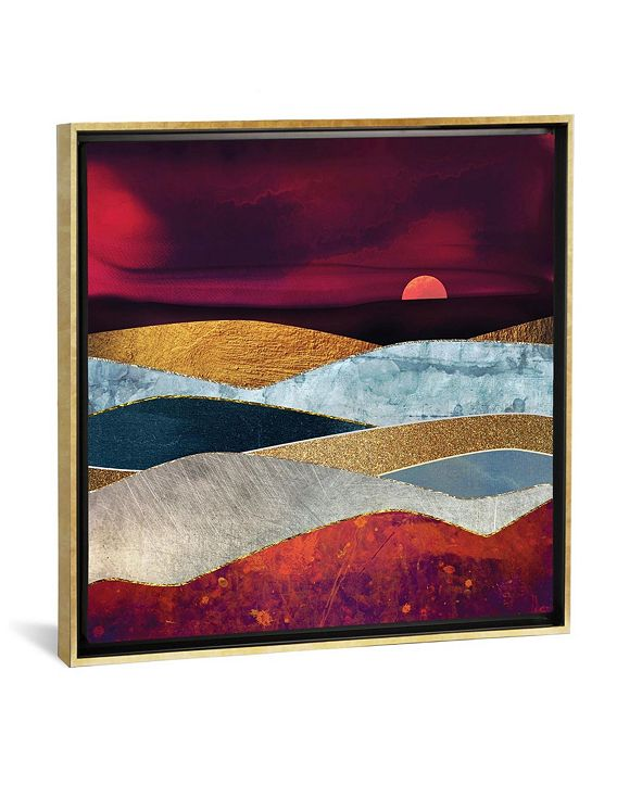 "iCanvas Crimson Sky by Spacefrog Designs Gallery-Wrapped Canvas Print - 37"" x 37"" x 0.75"""