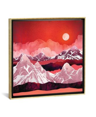 """Scarlet Glow by Spacefrog Designs Gallery-Wrapped Canvas Print - 37"""" x 37"""" x 0.75"""""""