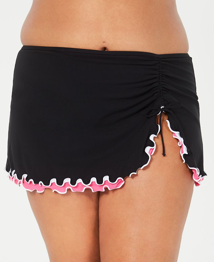 Profile by Gottex - Plus Size Tutti Frutti Side-Slit Swim Skirt