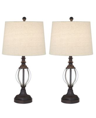 Pacific Coast Ribbed Set of 2 Table Lamps