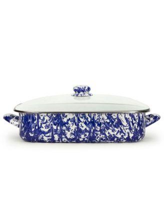 Cobalt Swirl Enamelware Collection 10.5 Quart Roasting Pan