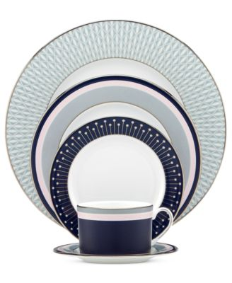 kate spade new york Mercer Drive Platinum 5 Piece Place Setting