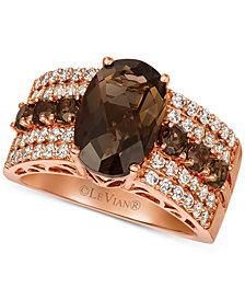 Le Vian® Chocolate Quartz (3-3/4 ct. t.w.) & Nude Diamond (5/8 ct. t.w.) Ring in 14k Rose Gold