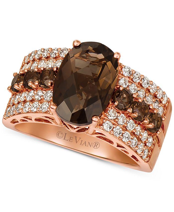 Le Vian - Chocolate Quartz (3-3/4 ct. t.w.) & Nude Diamond (5/8 ct. t.w.) Ring in 14k Rose Gold