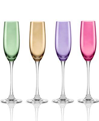 Lenox stemware tuscany harvest balloon set of 4 appetizer dessert plates dining - Lenox colored wine glasses ...