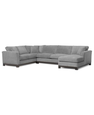 Radley 4 piece fabric modular chaise sectional furniture for Teddy fabric 4 piece chaise sectional sofa