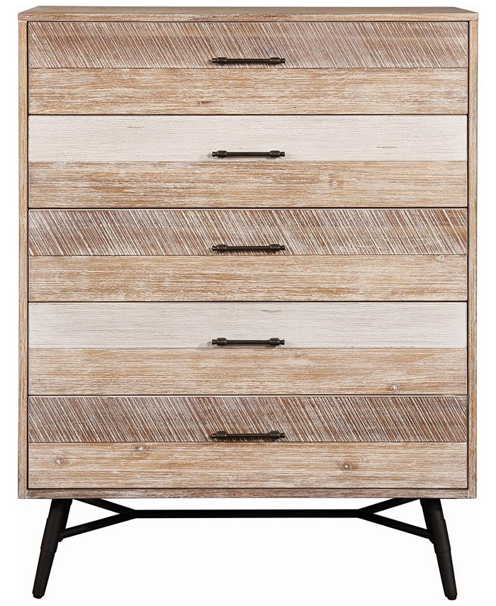 Macy's - Marlow 5-drawer Chest Rough Sawn Multi