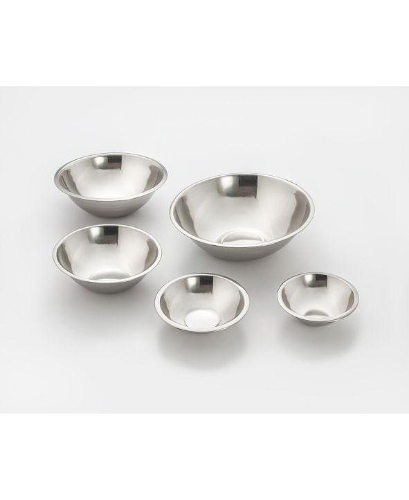 Cook Pro Cookpro 5 Piece Durable Stainless Steel Mixing Bowl Set