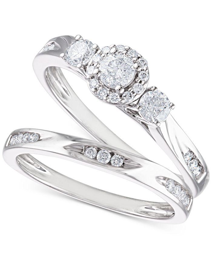 Macy's - Diamond Bridal Set (5/8 ct. t.w.) in 14k White Gold